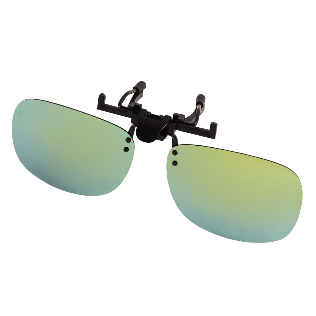 Unisex Hiking Olive Green Lens Rimless Clip On Polarized Sunglasses
