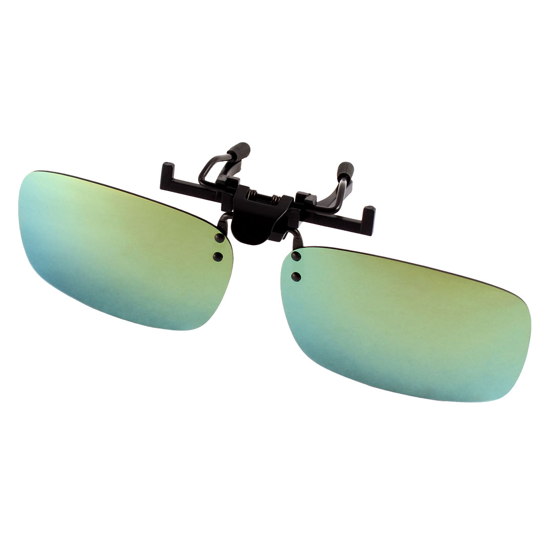 Unisex Cycling Olive Green Lens Rimless Clip On Polarized Sunglasses