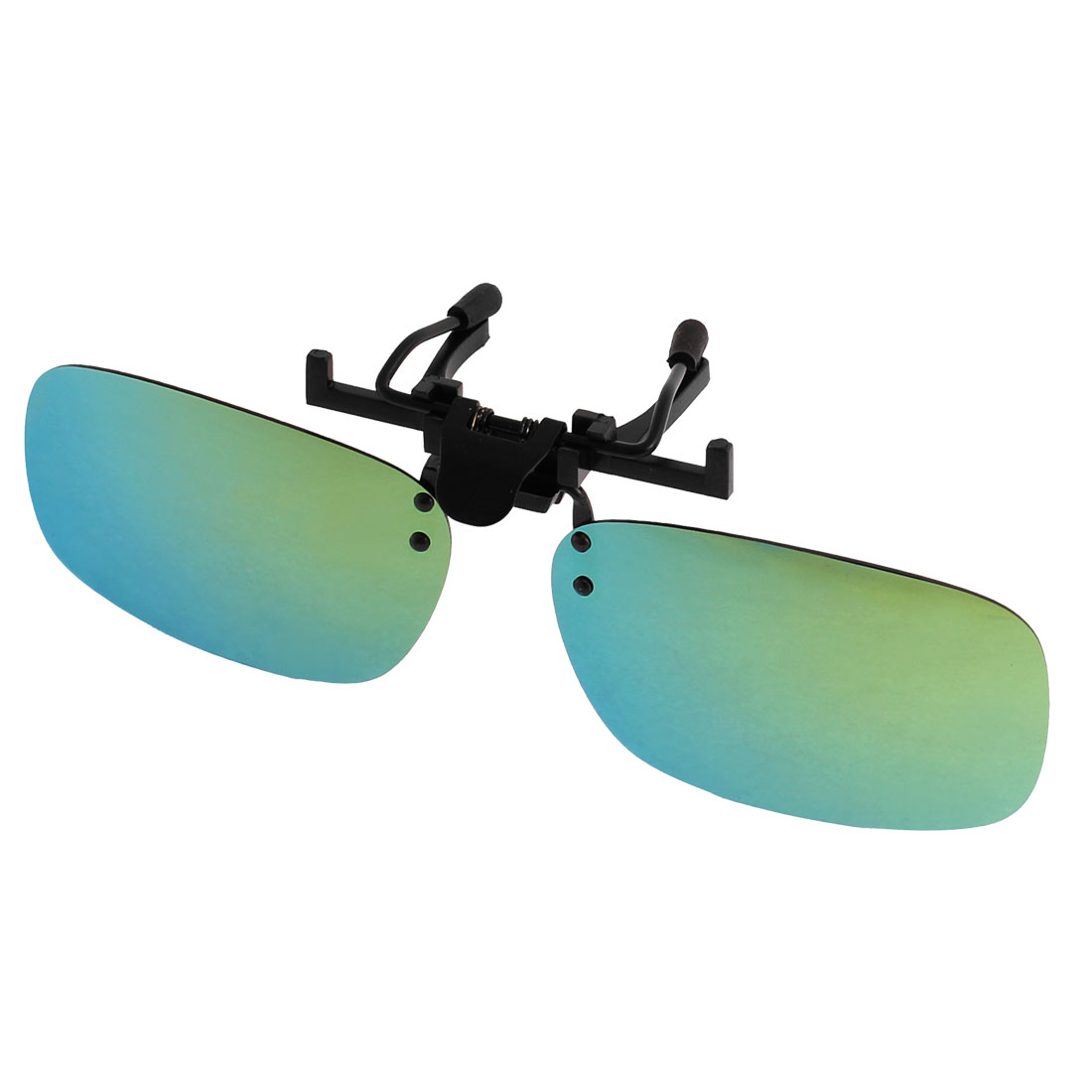 Unisex Travelling Olive Green Lens Rimless Clip On Polarized Sunglasses