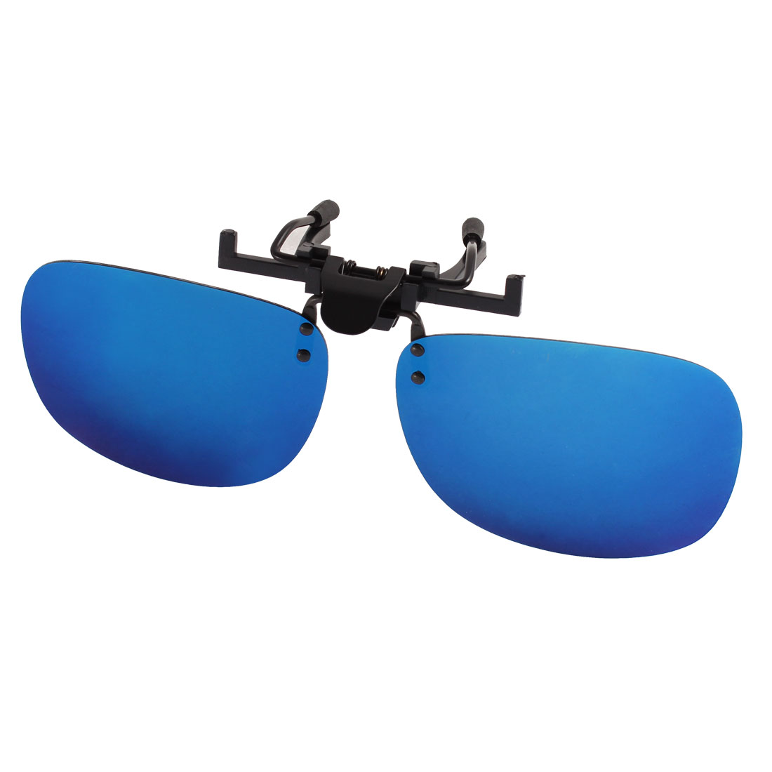 Unisex Travelling Yale Blue Lens Rimless Clip On Polarized Sunglasses