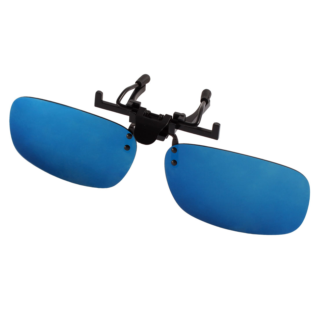 Unisex Hiking Yale Blue Lens Rimless Clip On Polarized Sunglasses