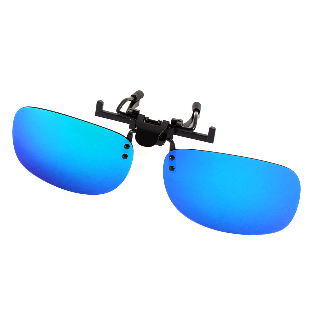 Unisex Fishing Gradient Blue Lens Rimless Clip On Polarized Sunglasses