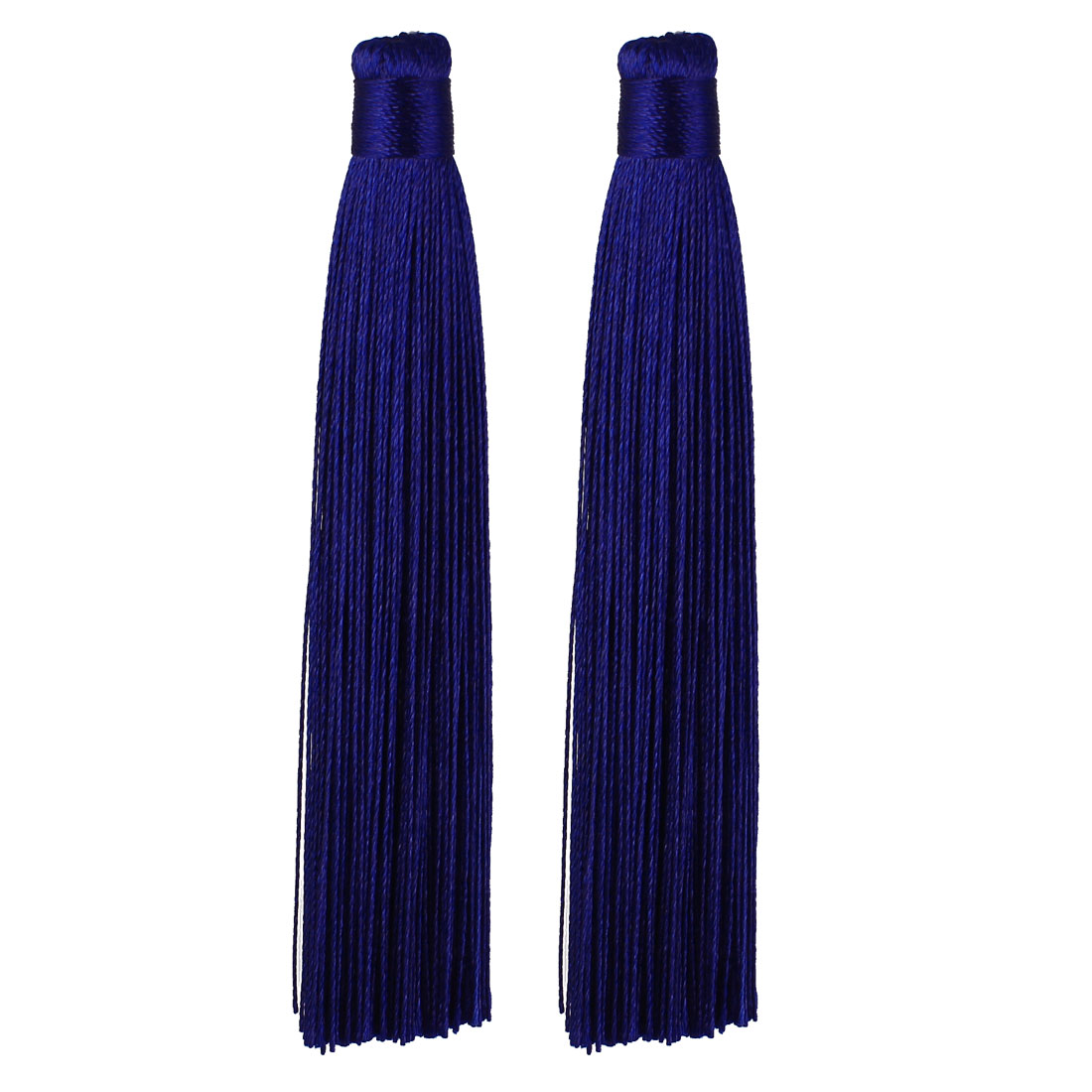 Chinese Knot Tassels Fringe Pendant DIY Jewelry Accessories Decoration Indigo Blue 12cm Length 2 Pcs