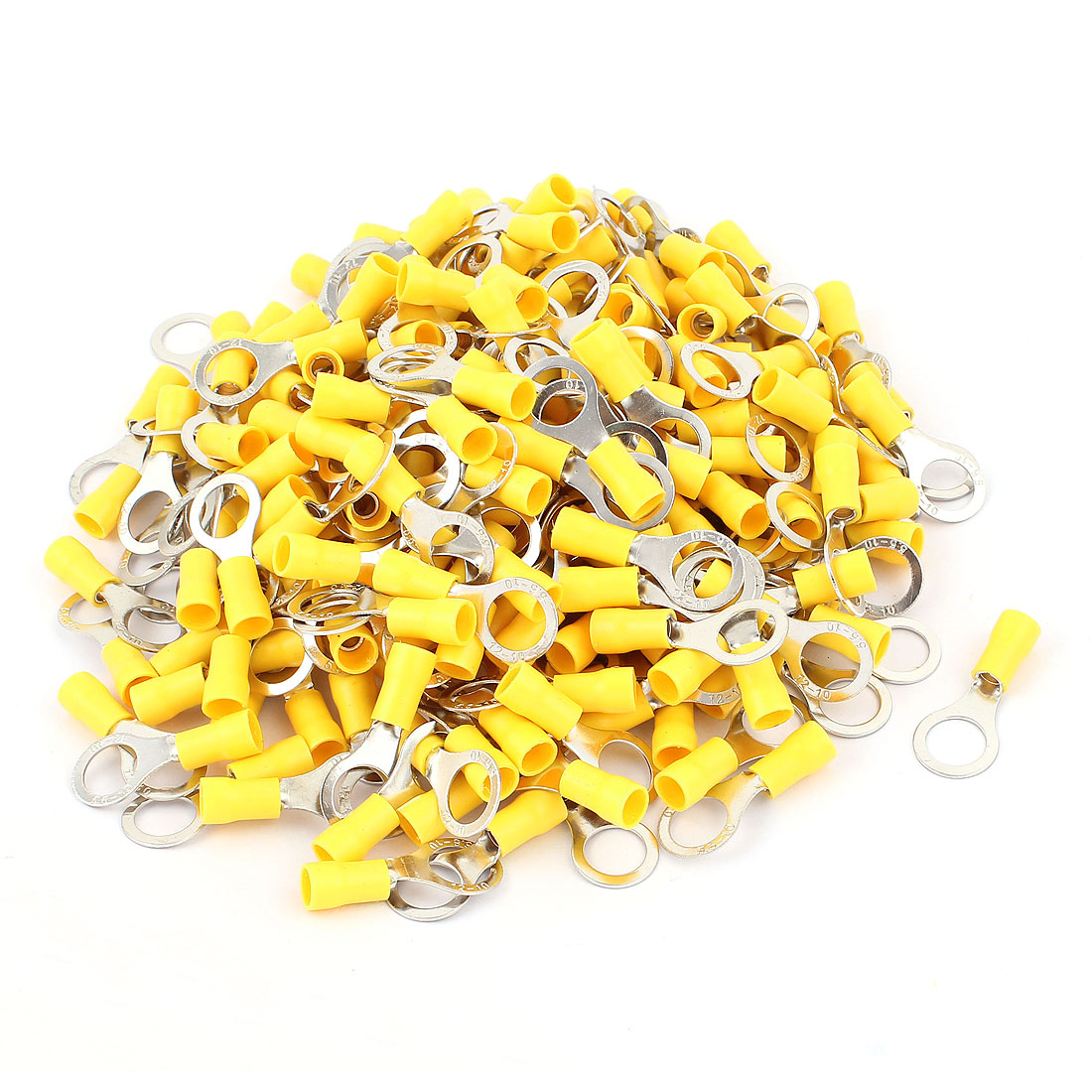 220pcs Cable Connector Pre-Insulated Ring Terminal RV5.5-10 for AWG 12-10 Wire