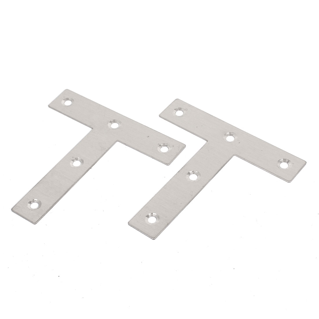 4 Pcs 80mmx80mmx16mm Metal T Shaped Flat Plate Corner Brace Angle Brackets