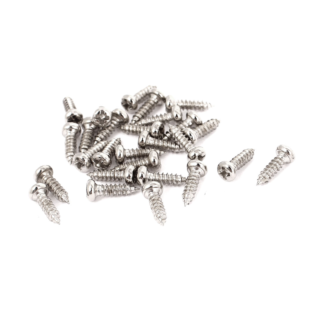 30 Pcs 0.8mm Pitch Phillips Pan Head Self Tapping Drilling Screws Bolts M2x7mm