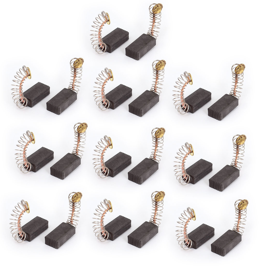 10 Pairs Spring Type Motor Carbon Brushes Replacement 15mm x 8mm x 5mm