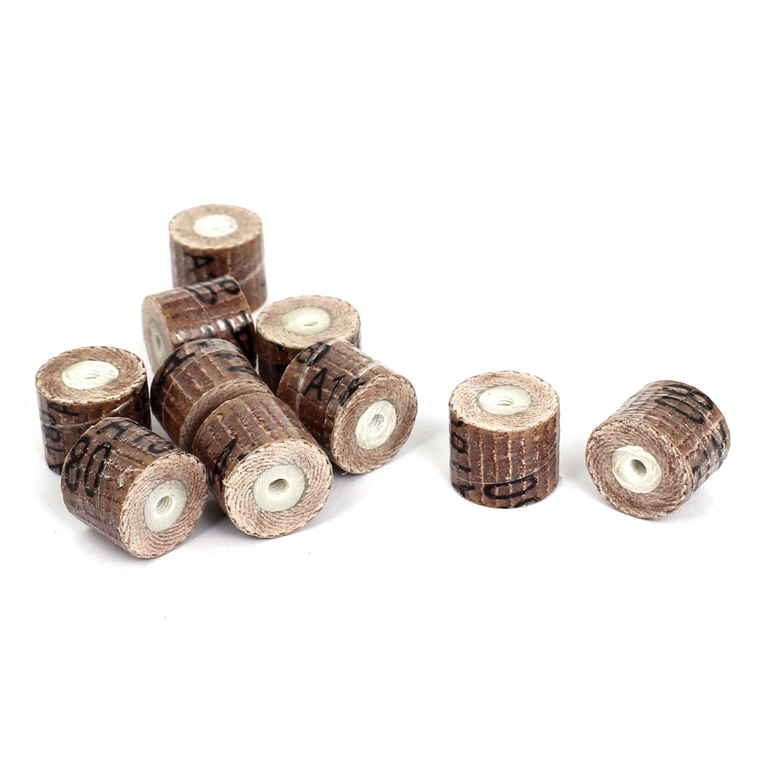 10 Pcs 180 Grit 3mm Mandrel Flap Wheel Grinding Heads 14mmx12mm for Rotary Tools