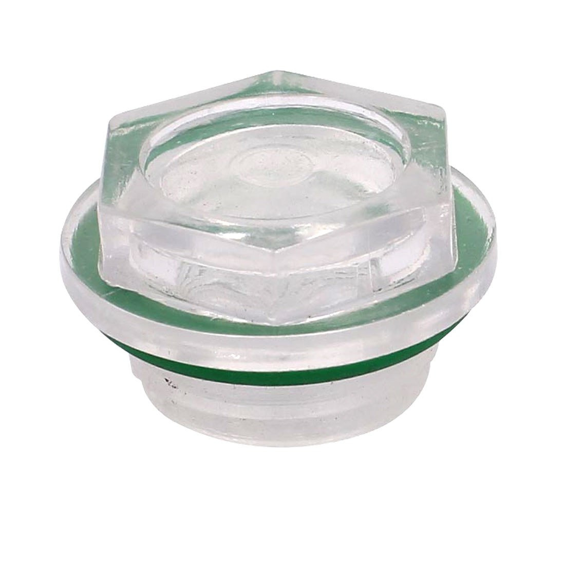 Green Rubber Washer Clear Plastic Oil Level Sight Glass 25mm for Air Compressor