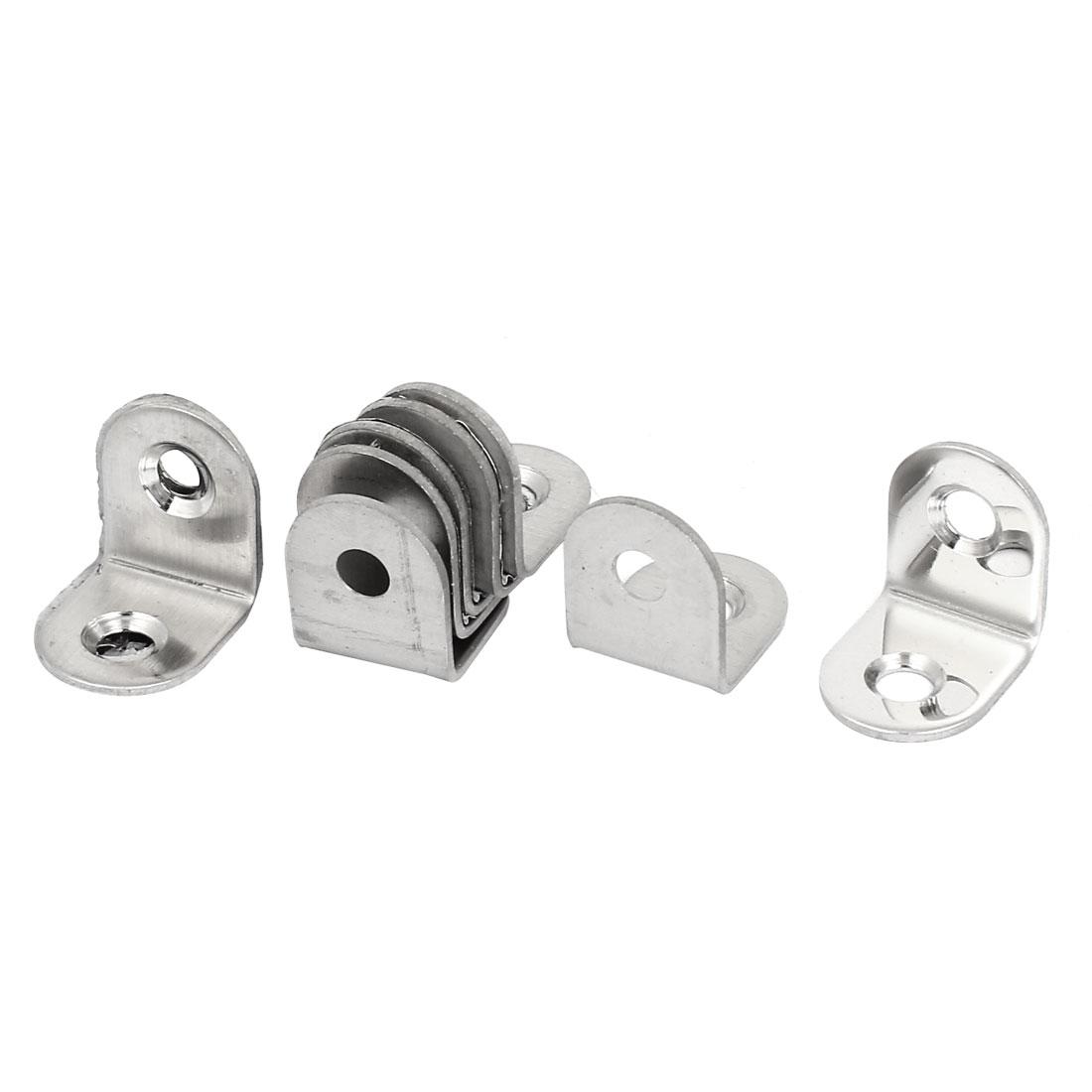 10 Pcs 20mmx20mmx16mm Round End Corner Brace Angle Repair Brackets Fasteners