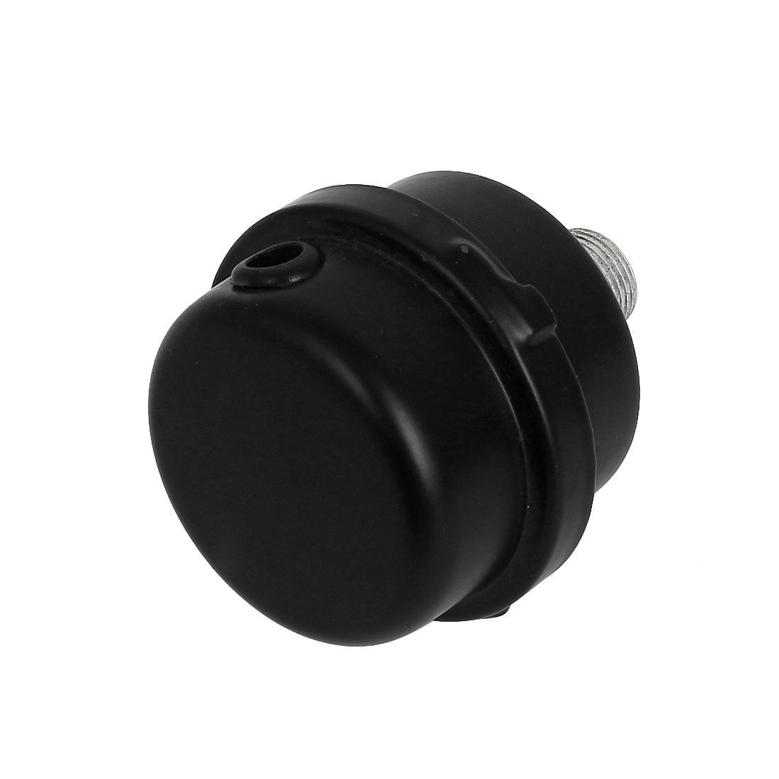 16mm Diameter Male Silent Air Compressor Parts Muffler Silencer Filter Black