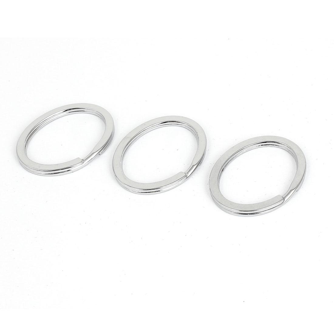 3 Pcs Metal Double Loops Split Jump Rings Gift Craft Keyrings Findings