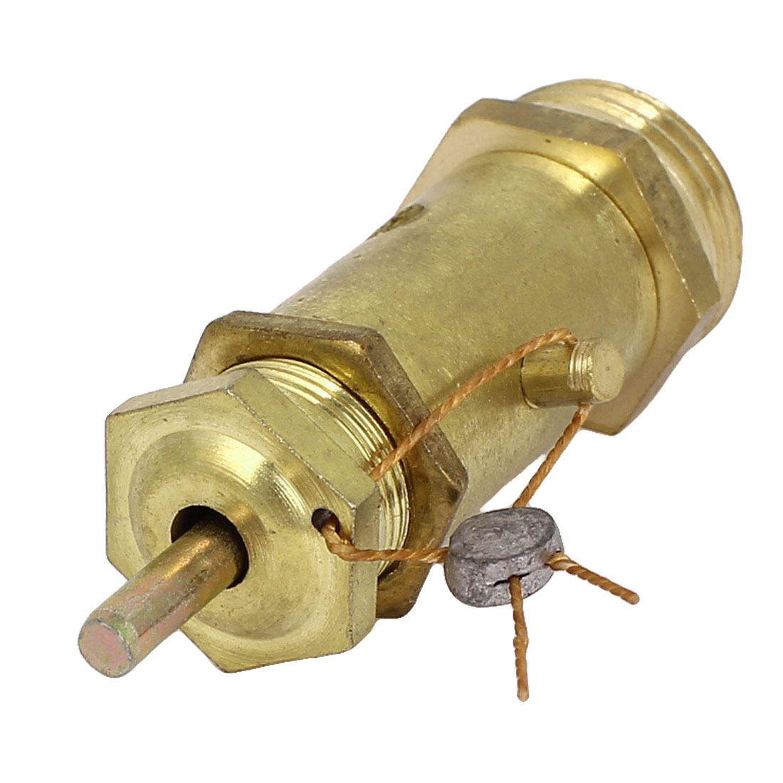 Air Compressor Safety Relief Pressure Valve Brass Tone 1/2BSP 21mm Male Thread