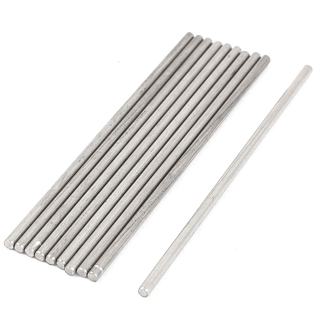 RC Aircraft Car Parts 2mm Shaft Dia 160mm Length Stainless Steel Round Rod 10Pcs