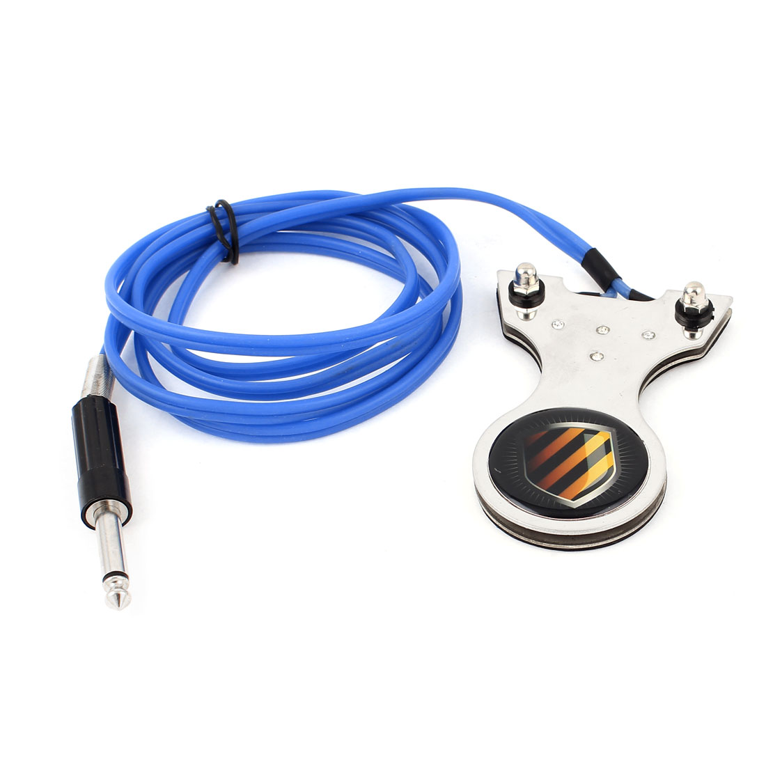 Stripe Pattern Stainless Steel Power Supply Tattoo Foot Pedal Switch 5.3Ft Length