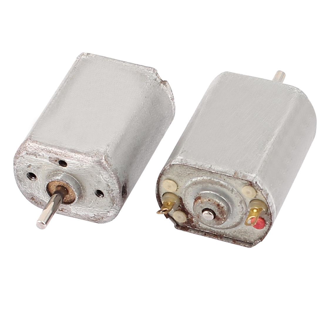 2 Pcs DC 1.5V-4.5V 18000RPM Electric Mini Micro Motor for DIY RC Model Car Ship