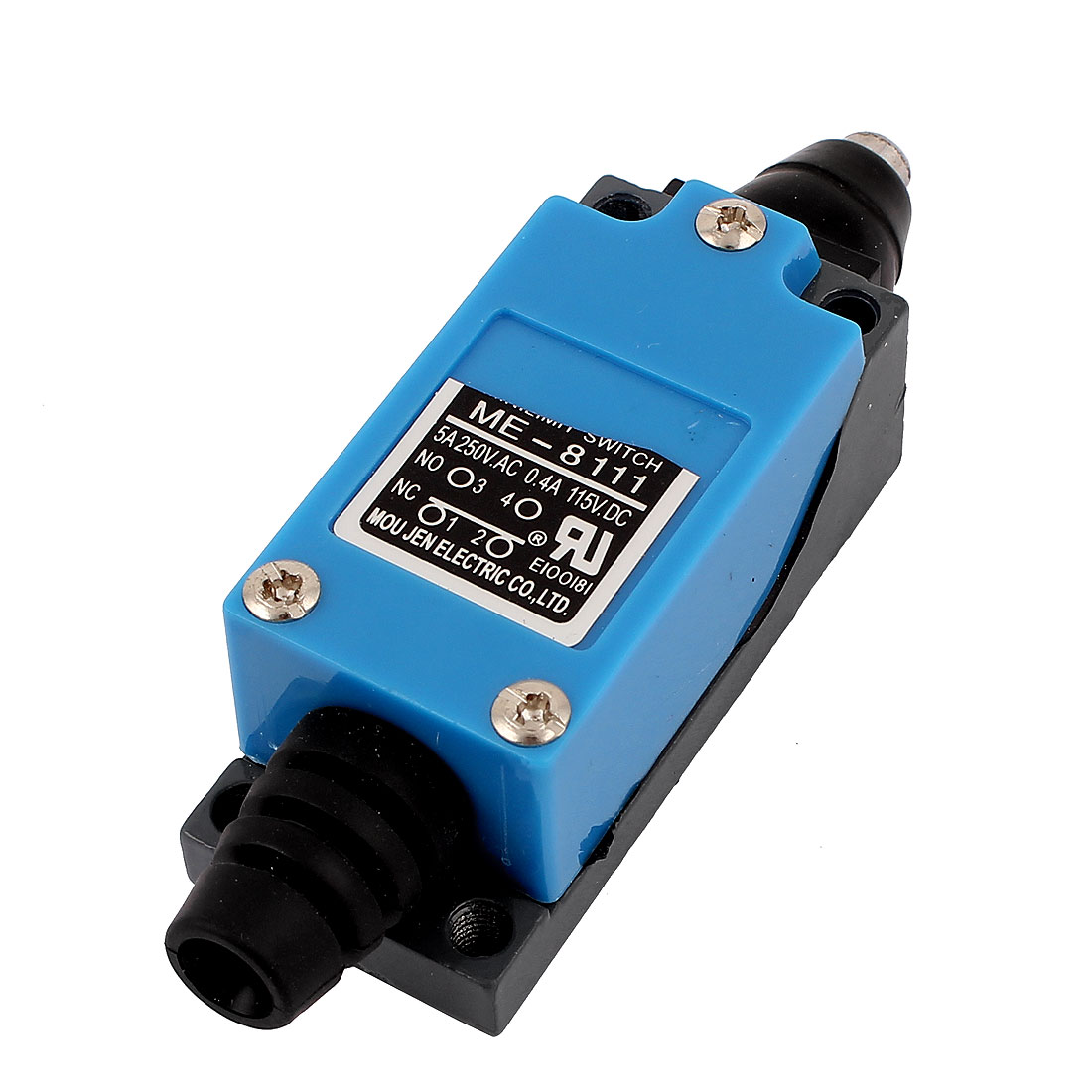 AC 250V 5A DC 115V 0.4A 1NO 1NC DPST Momentary Action Push Plunger Micro Limit Switch