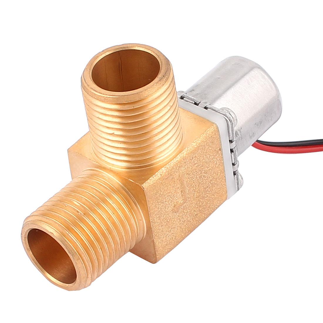 1/2BSP Male Thread Air Gas Pulse Solenoid Valve DC 6V 0.02-0.8MPa 0-100C