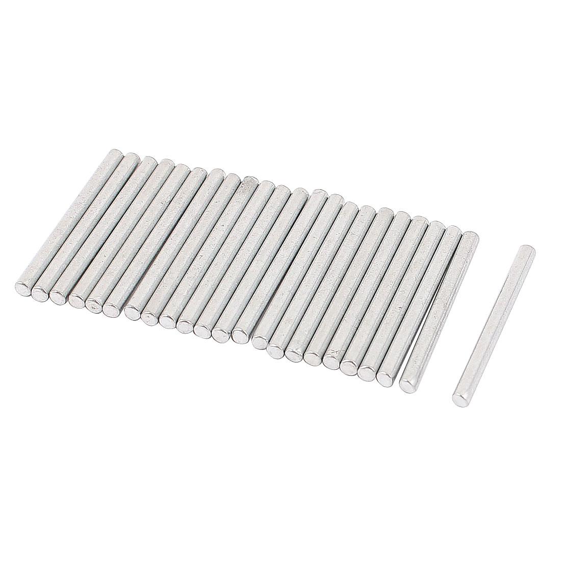 20 Pcs 2mm Dia 25mm Length Metal Solid Round Rod Bar for DIY RC Car
