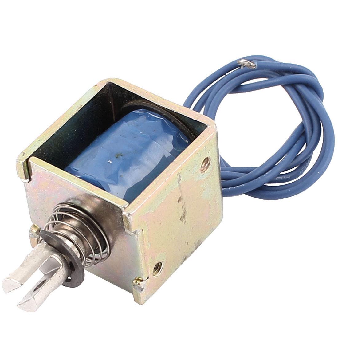 DC 12V 10mm Stroke Pull Type Open Frame Actuator Solenoid Electromagnet 15N