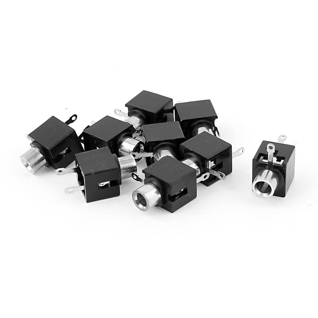 9 Pcs 3.5mm Inner Dia Jack Socket Audio Video PCB Mount Connectors
