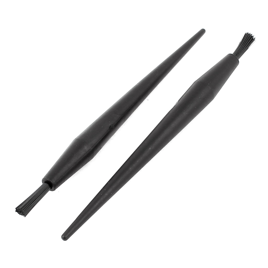 2 Pcs 18 x 4mm Round Handle Dust Cleaning Conductive ESD Anti Static Brush