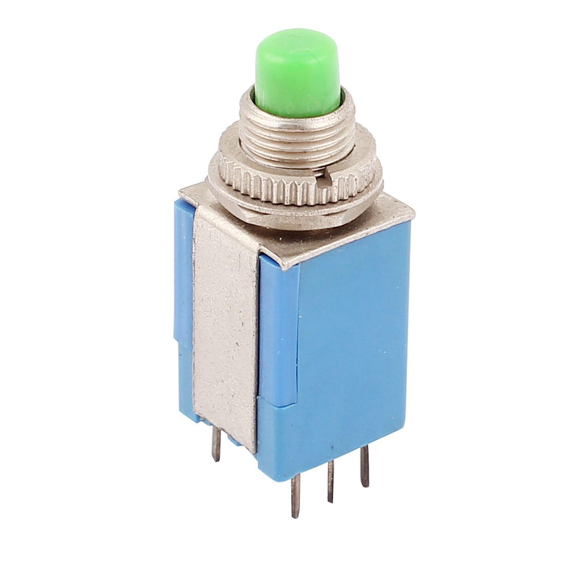 AC 250V/1A 125V/3A 6 Pin DPDT Flat Head Momentary Push Button Pushbutton Switch