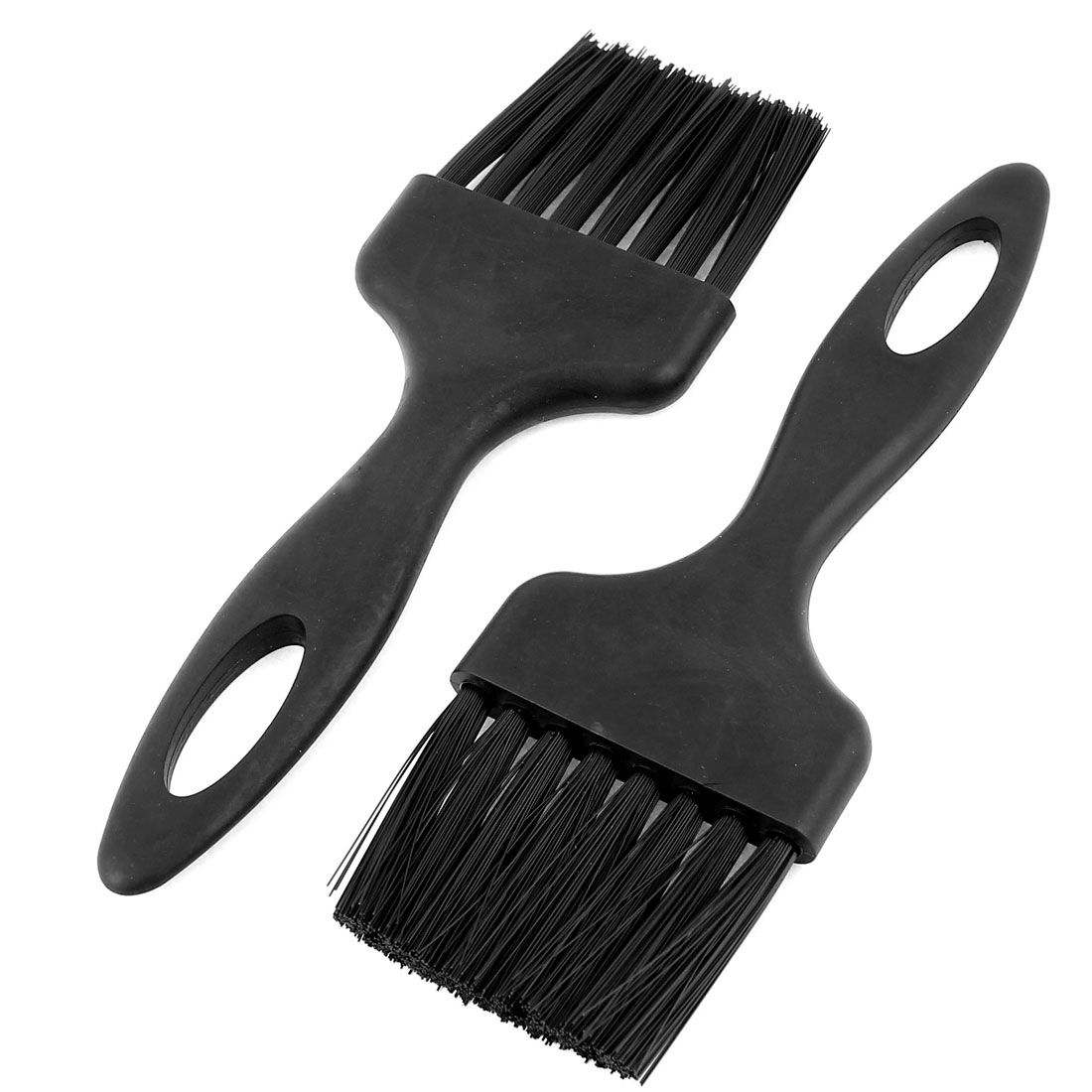 2 Pcs 5.4 x 0.5cm Flat Handle Anti Static ESD Cleaning Brush Black