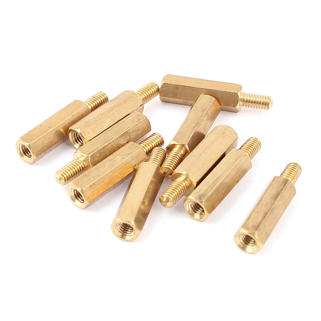 10 Pcs 15mm+6mm M3 Male to Female Brass Hex Standoff Spacer Pillar for PCB Board