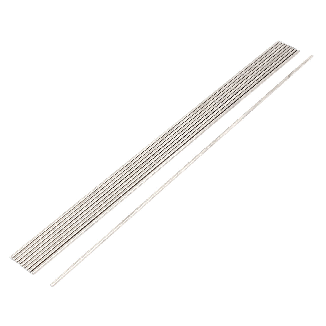 10 Pcs 2mm Dia 250mm Length Stainless Steel Solid Round Rod Bar for DIY RC Car