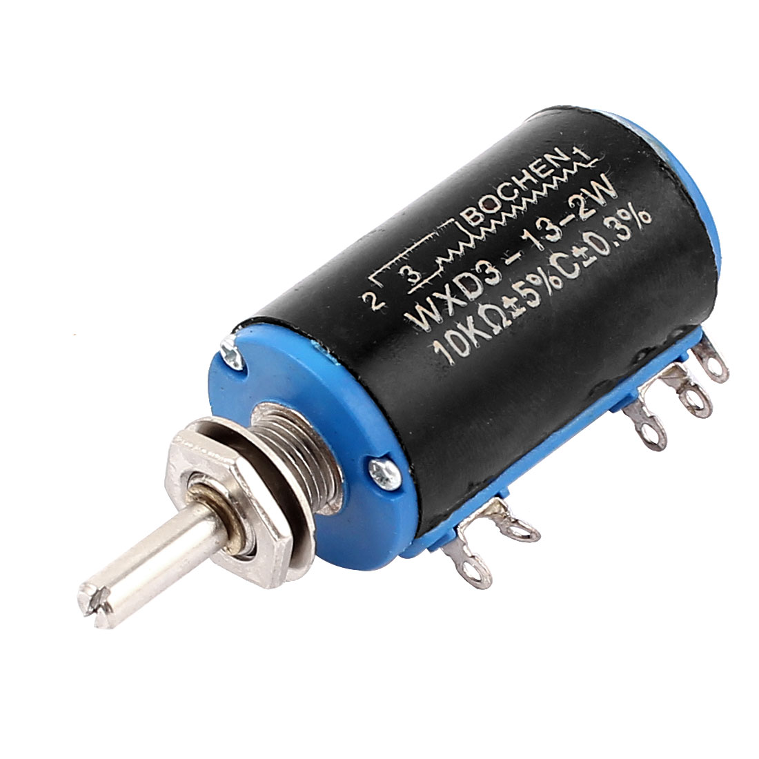 WXD3-13-2W 10K Ohm 5% Tolerance Multi Turn 3 Terminals Rotary Wire Wound Potentiometer