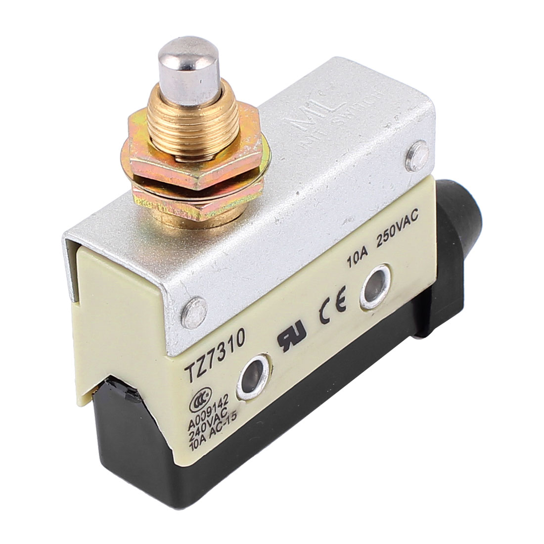 TZ7310 AC 250V 10A SPDT Plunger Panel Mount Momentary Micro Limit Switch