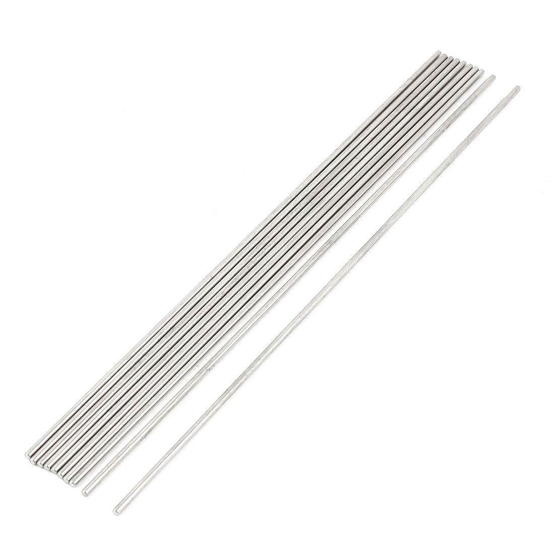 10 Pcs 2mm Dia 190mm Length Stainless Steel Solid Round Rod Bar for DIY RC Car