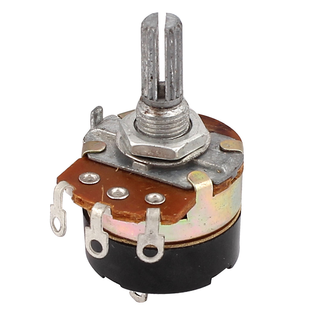 5K Ohm 3 Terminals Dial Rotary Audio Single Linear Taper Potentiometer
