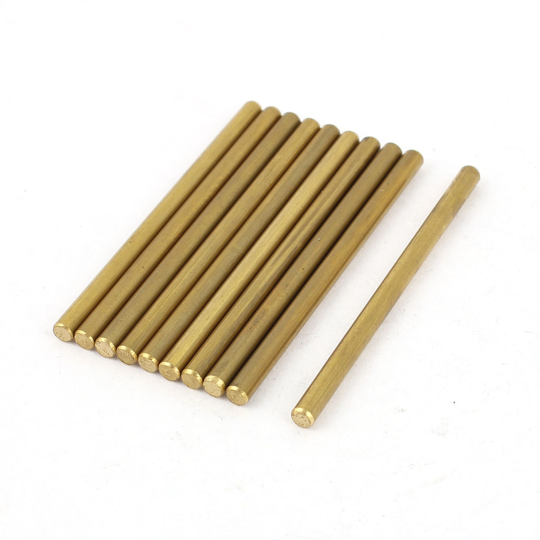 10 Pcs 3mm Dia 50mm Length Brass Solid Round Rod Bar for DIY RC Car