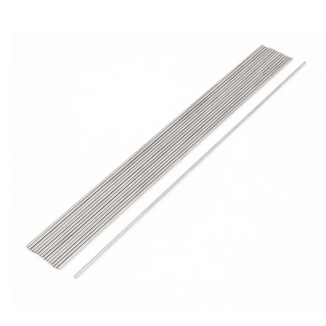 15 Pcs 2mm Dia 150mm Length Stainless Steel Solid Round Rod Bar for DIY RC Model Airplane