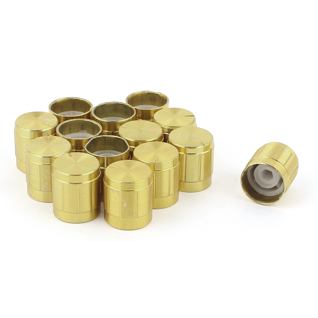 14 Pcs Gold Tone Volume Control Rotary Knobs for 6mm Dia Knurled Shaft Potentiometer