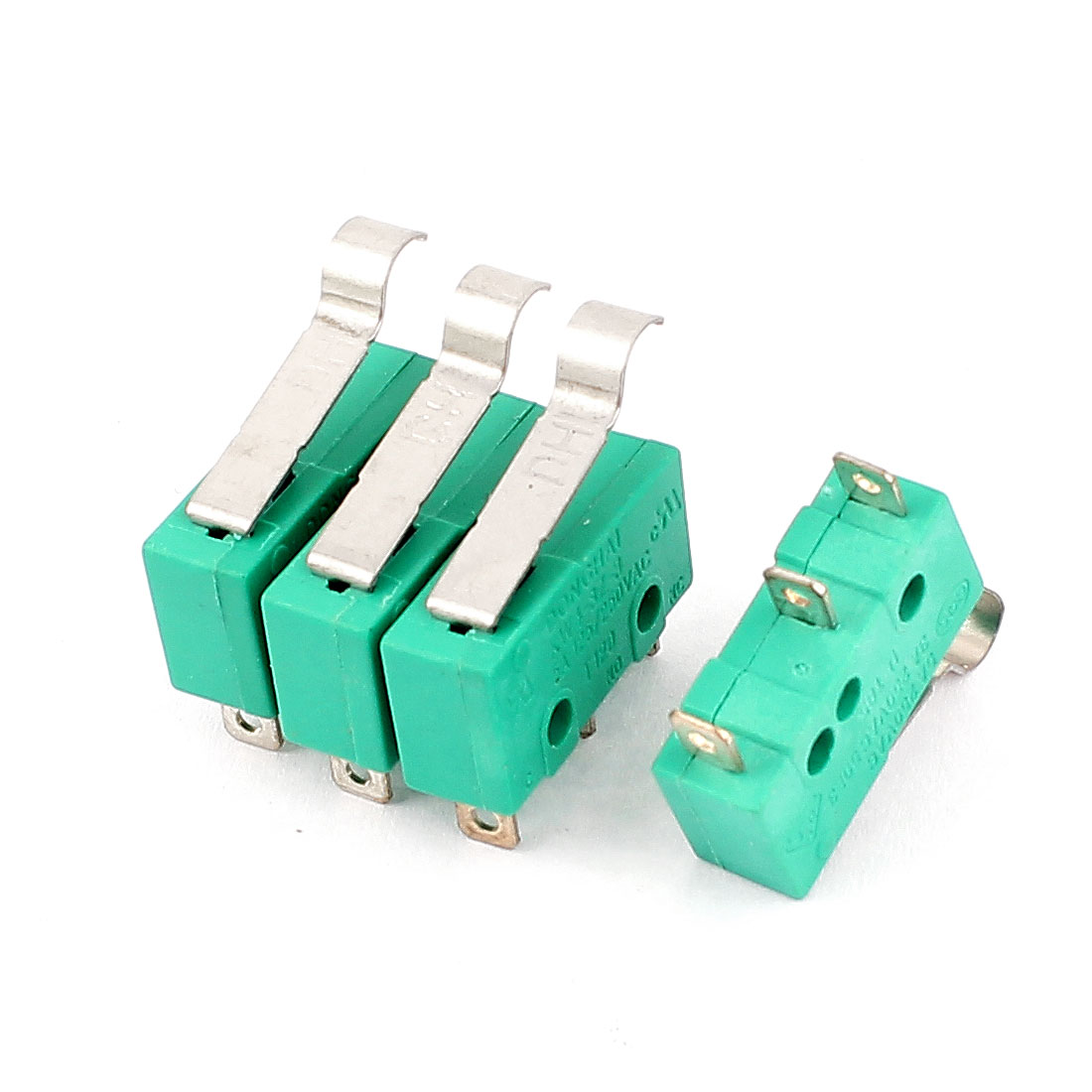 4 Pcs AC 250V 5A/3A SPDT Hinge Lever Type Momentary Micro Limit Switch