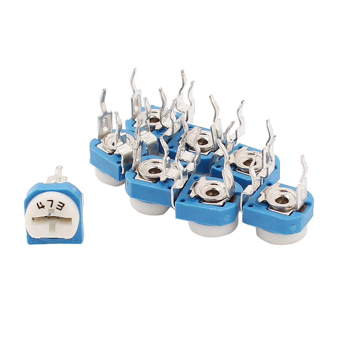 8 Pcs DVD VCD 47K Ohm Triming Potentiometer Adjustable Resistor WH06-2