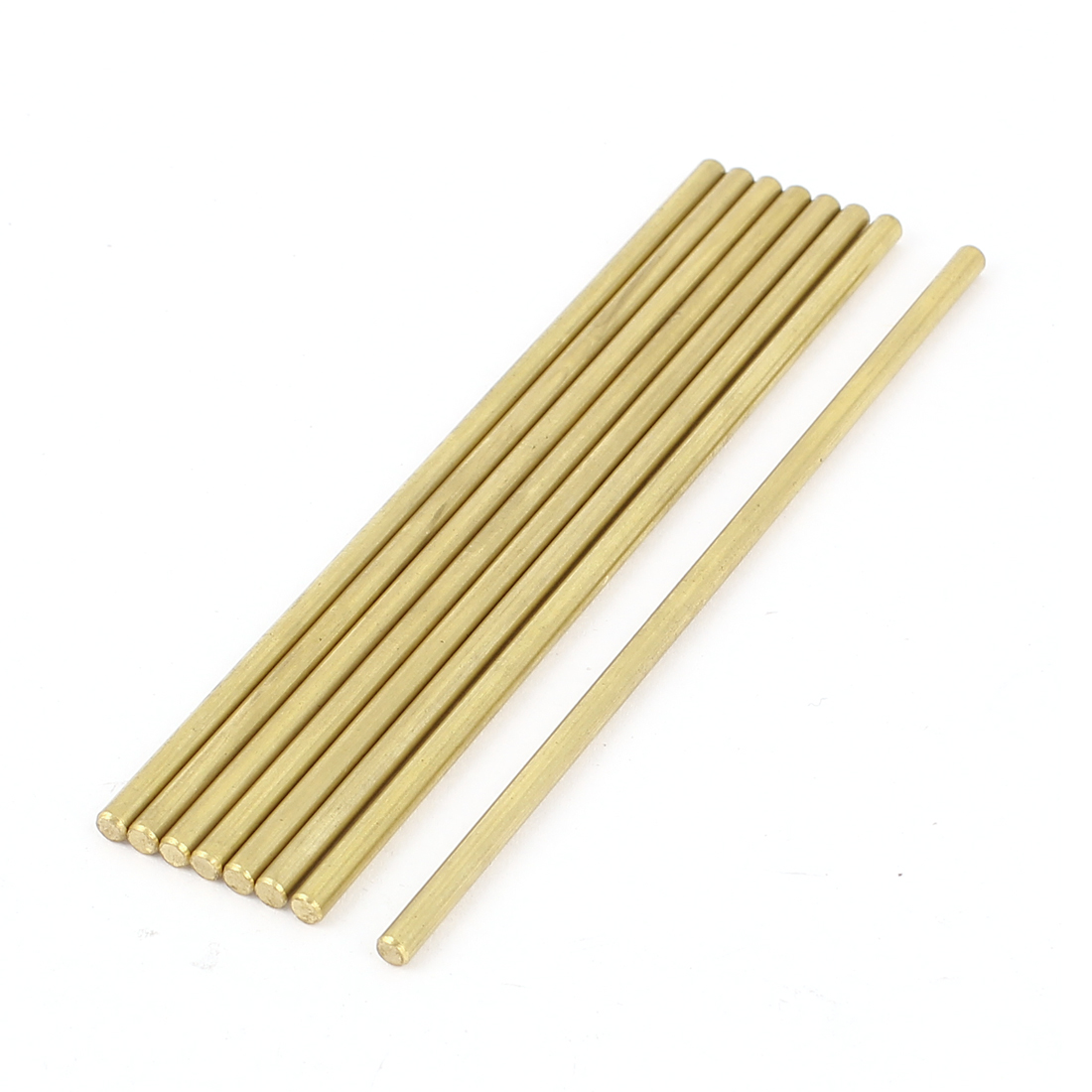 8 Pcs 3mm Dia 100mm Length Brass Solid Round Axle Rod Bar for DIY RC Model Airplane