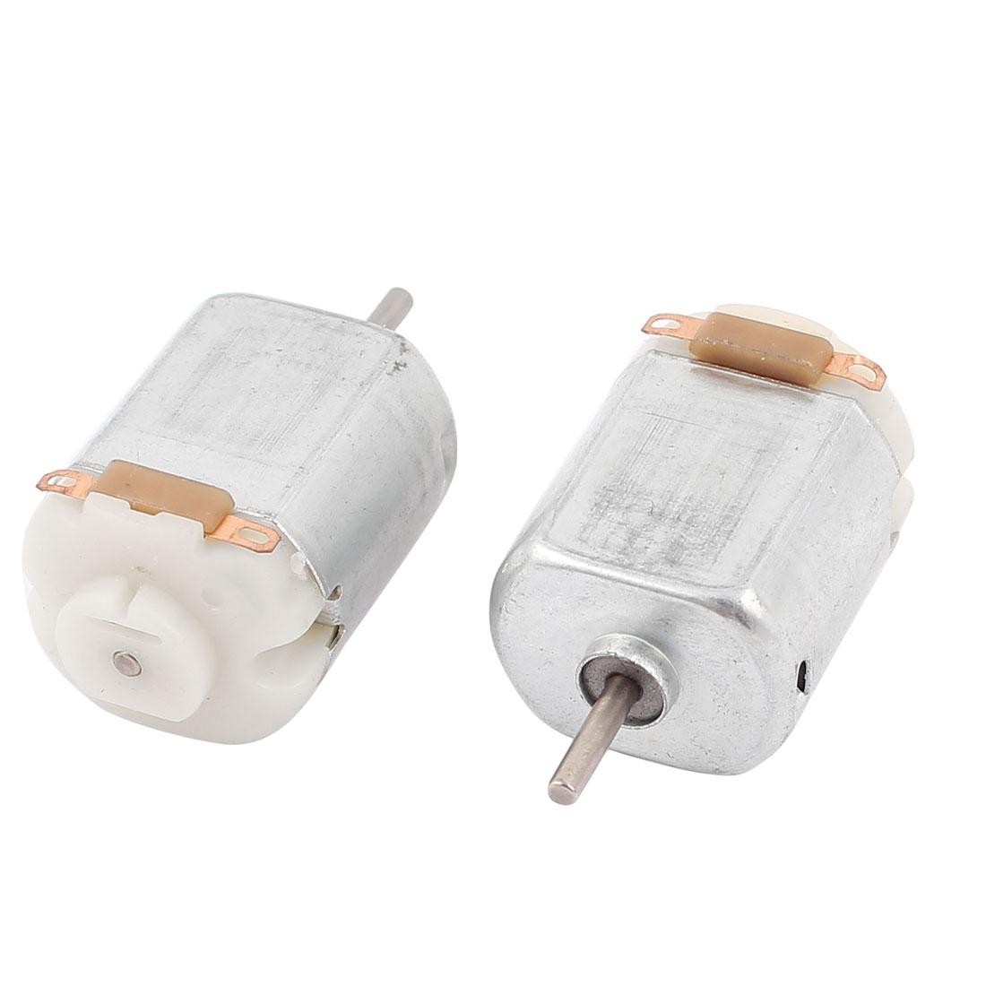 2 Pcs DC 6V 12500RPM 2mm Shaft Magnetic Motor for DIY Toys Cars