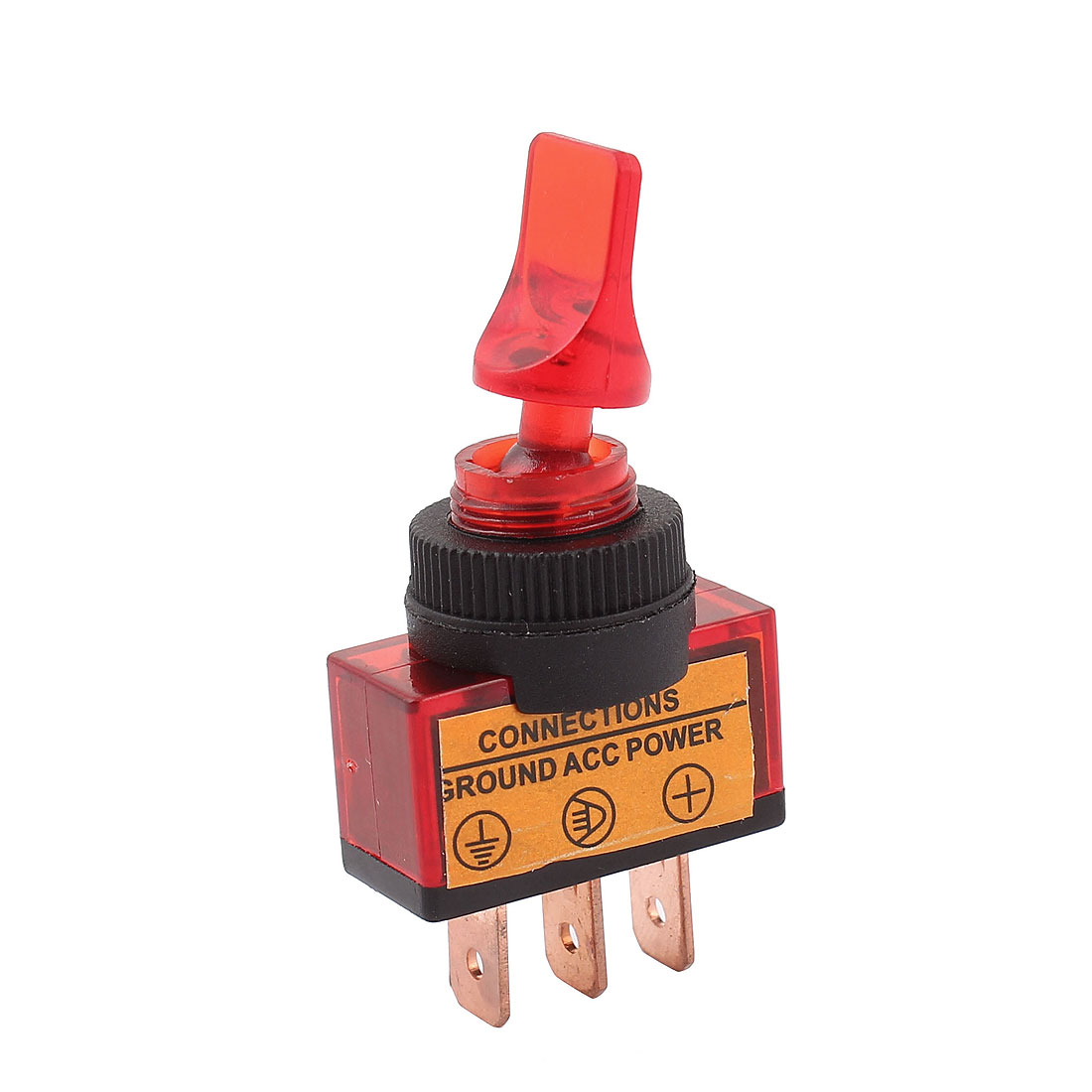 DC 12V 20A 12mm Thread Panel Mount SPDT 2-Position ON/OFF Toggle Switch Red