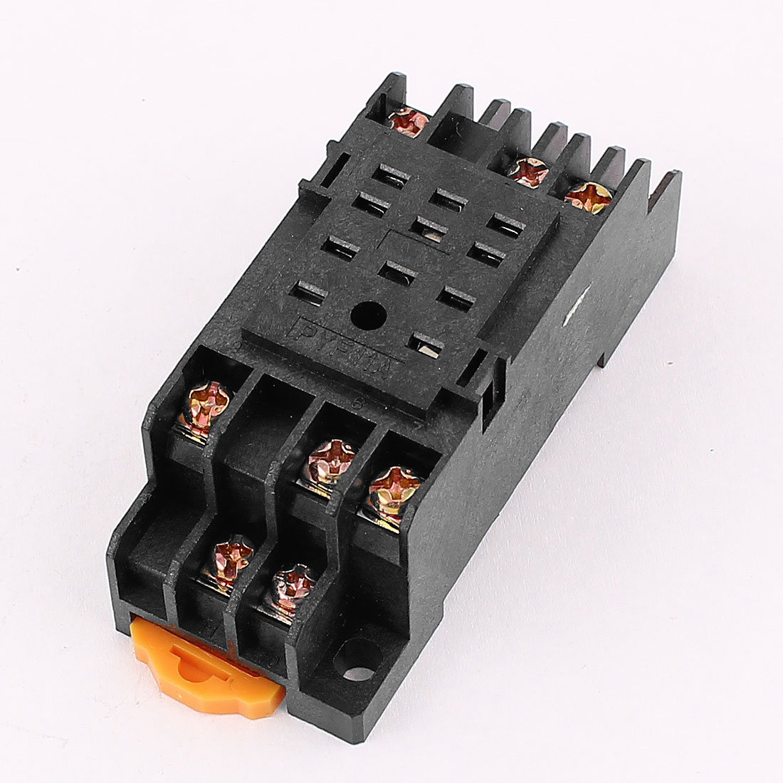 Relay Timer 11Pin 35mm DIN Rail Power Socket Base PYF11A for HH53P
