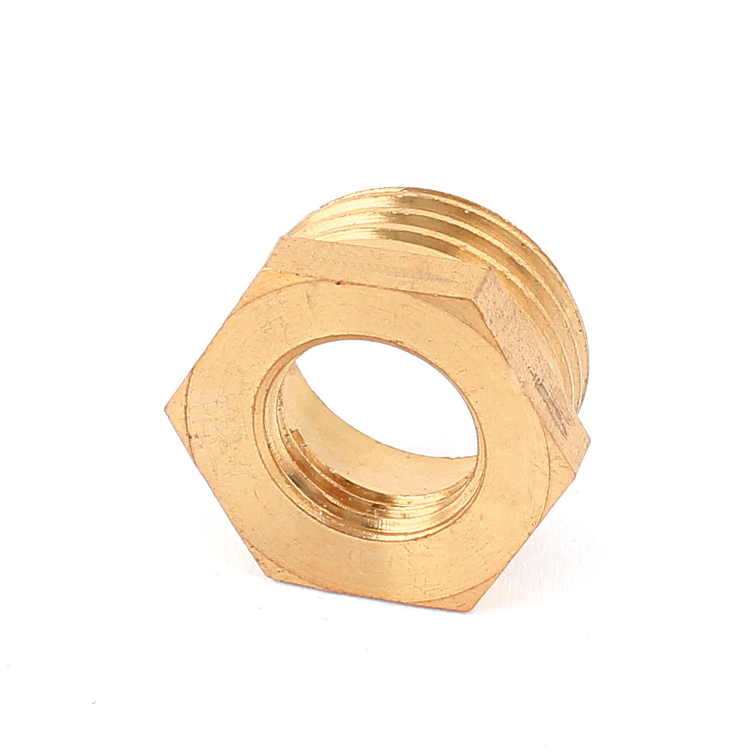 1/2BSP x 1/4BSP Male to Female Thread Brass Hex Reducing Bushing Pipe Fitting