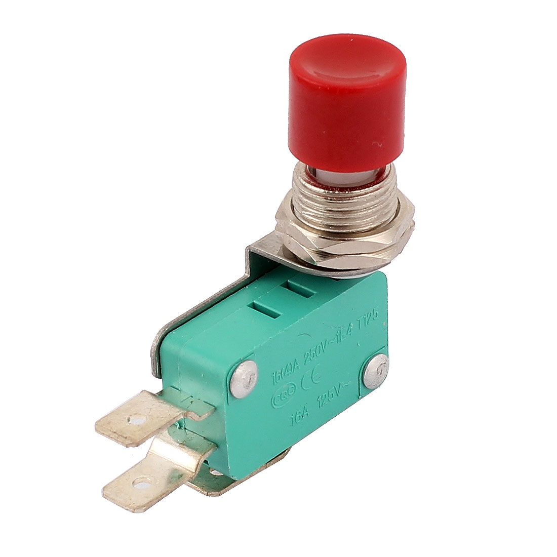 AC 250V/125V 16(4)A Red Push Button Lever Momentary SPDT Micro Switch