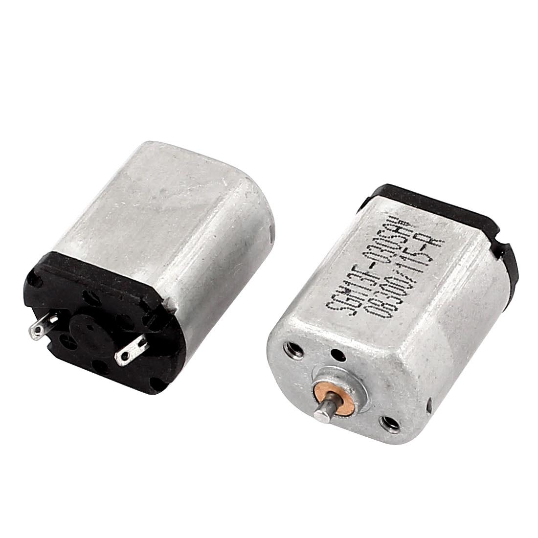 2 Pcs DC 6V 12800RPM Rotary Speed 1.5mm Shaft Dia Mini Motor for DIY Toy
