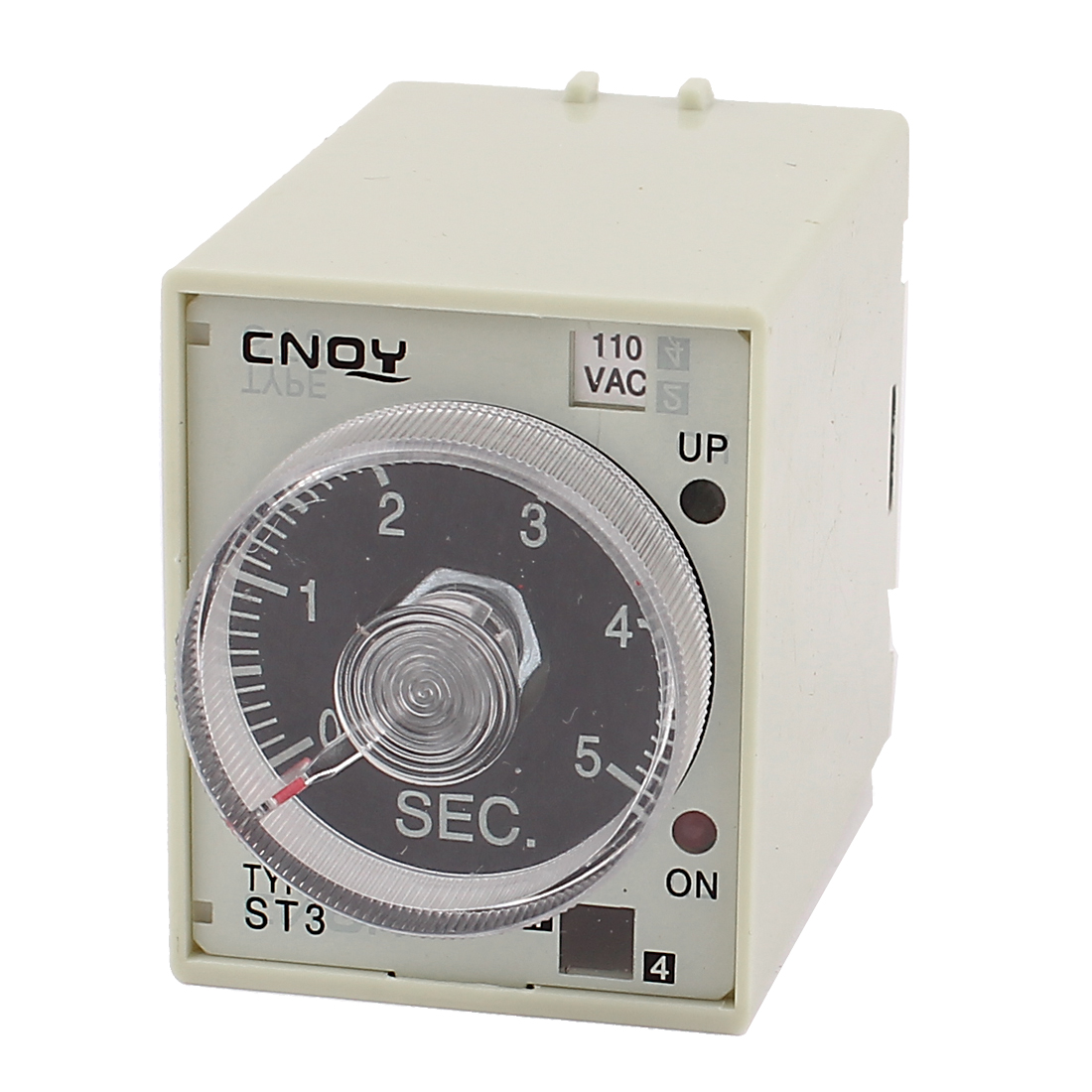 ST3 Model AC 110V SPDT 0-5 Seconds Delay Power On Timer Time Relay