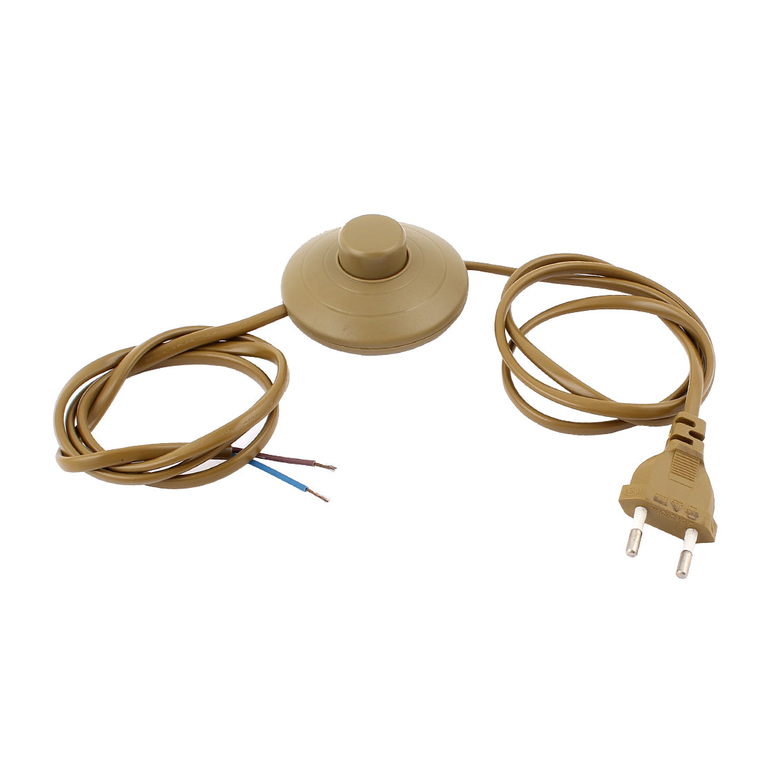3A/125V AC Plastic EU Plug On-Off Light Power Foot Switch 1.8M