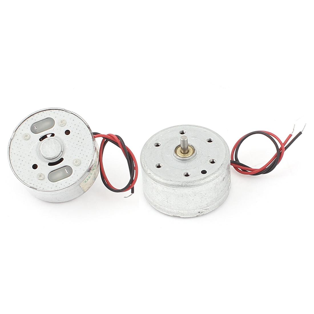 2 Pcs 1.5-3V 2700RPM Torque Magnetic Mini DC Motor for CD DVD Player