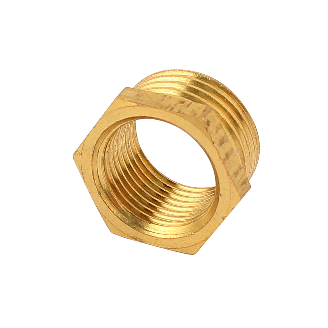 1/2BSP x 3/8BSP Male to Female Thread Brass Hex Reducing Bushing Adapter Pipe Fitting